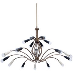 Large Botanical Italian Chandelier