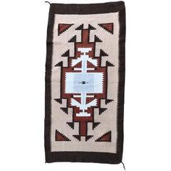 Handwoven Vintage Wool Navajo Rug