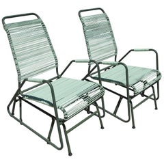 Mid-Century Patio Glider Chairs by Mallin Co. of California