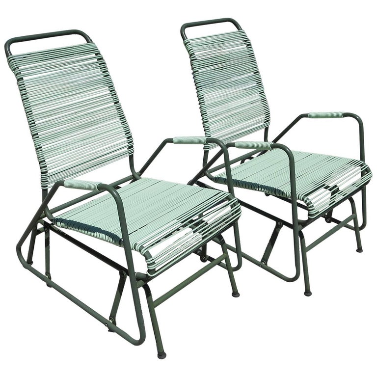 Mid-Century Patio Glider Chairs by Mallin Co. of California For Sale