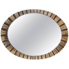 1960s Silver Gilt Sunburst Mirror