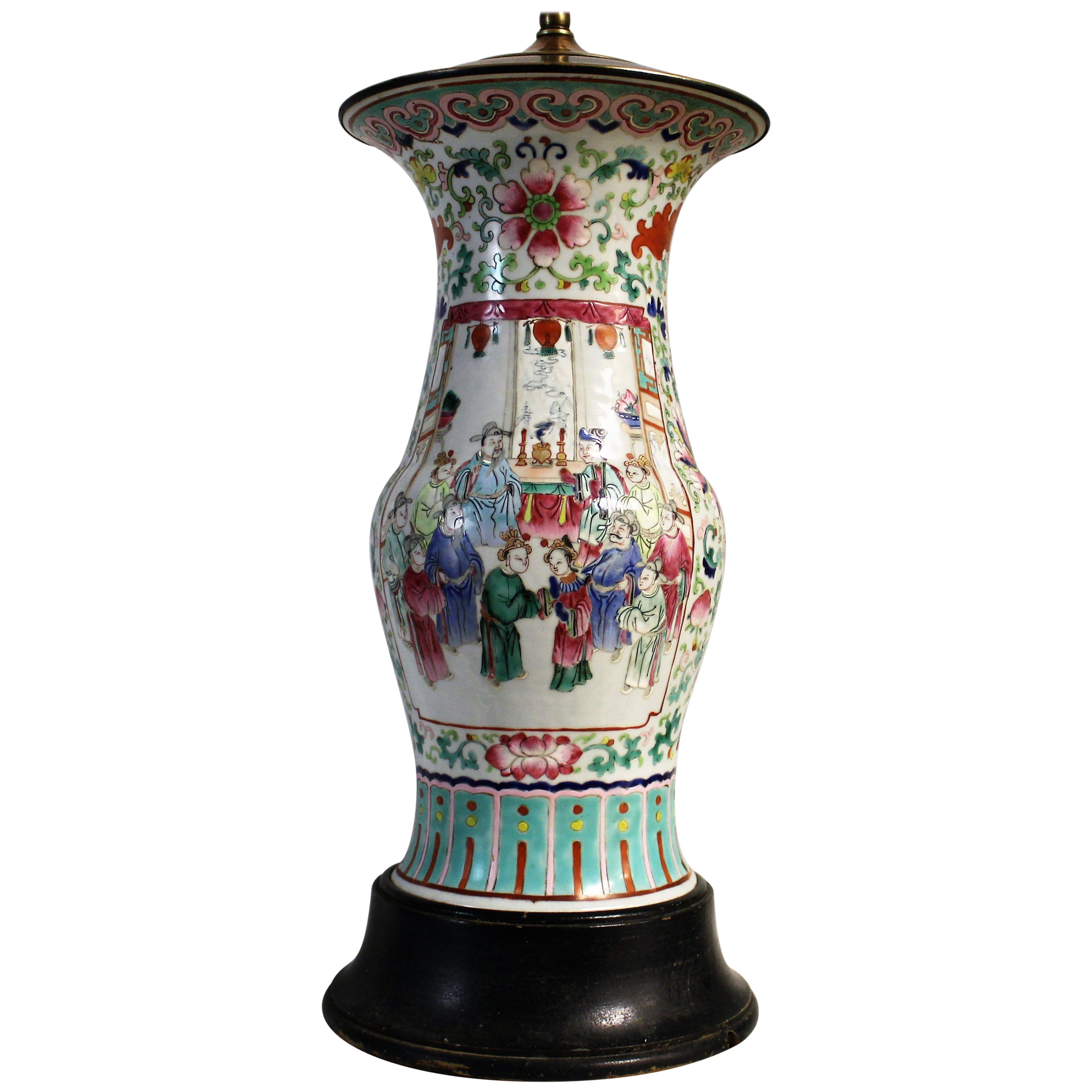 Early 20th Century, Chinese Porcelain Lamp