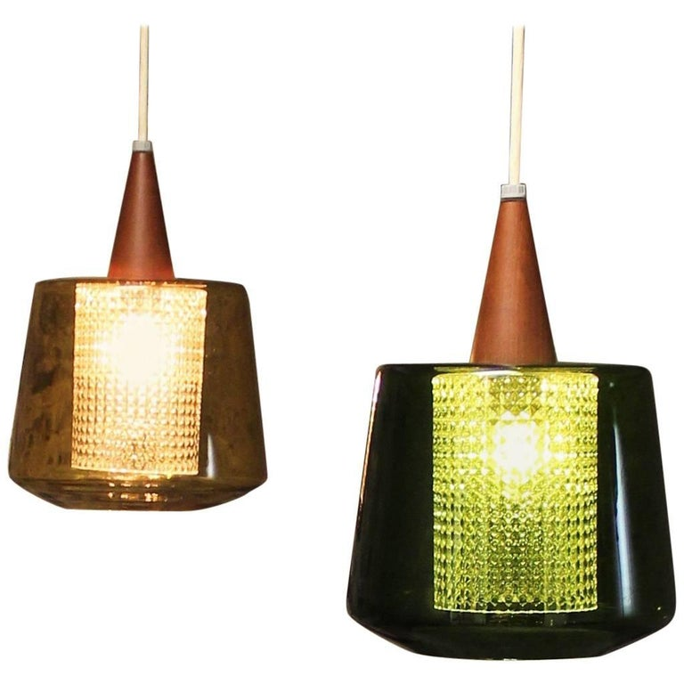 Pair of Carl Fagerlund Pendant Lights for Orrefors