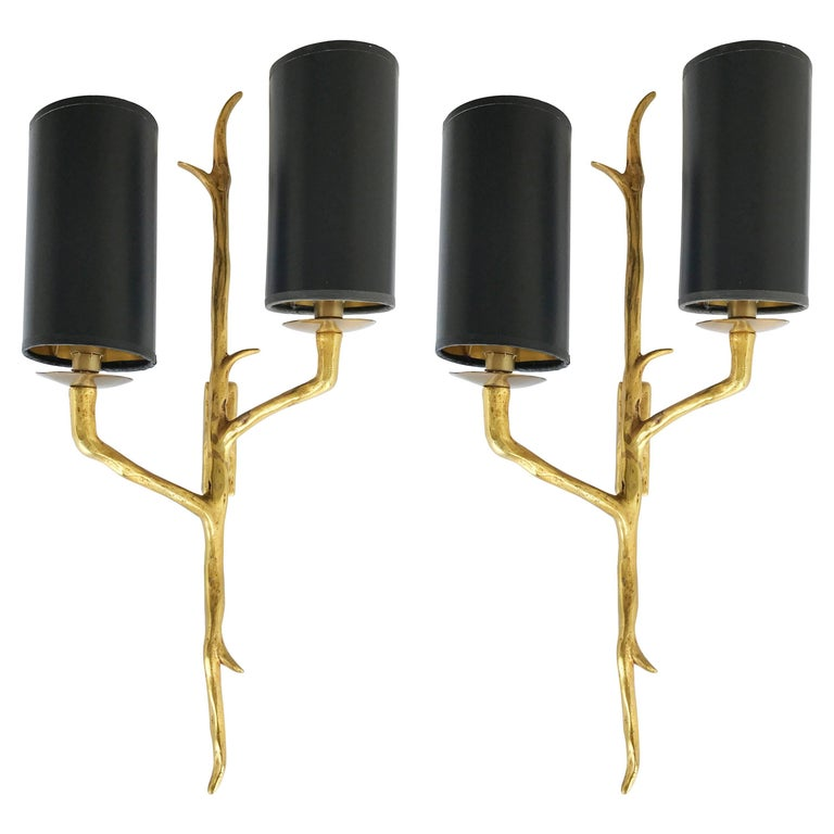 Pair of Agostini Style Sconces For Sale