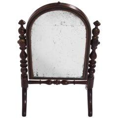 19th Century English Miniature Travel Mirror