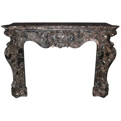 Louis XV Marble Fireplace mantel, 19th Century