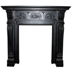 Black Marble Fireplace mantel, 19th Century
