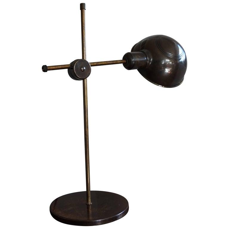 Rare Mid-Century Modern Bronzed Table Lamp / Desk Lamp of Japanese Make & Design