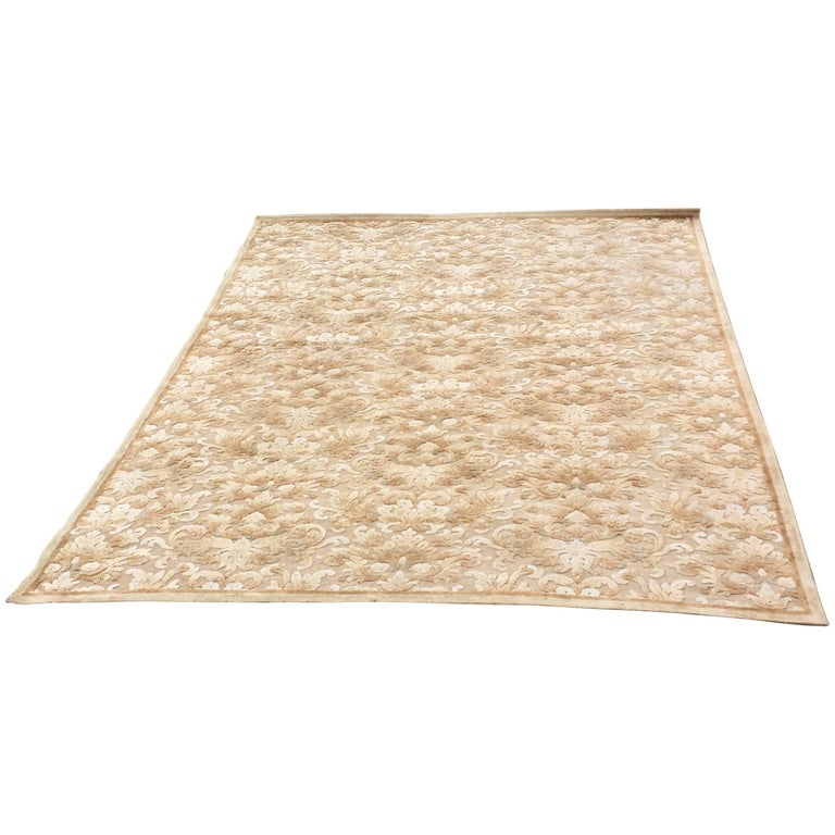 Lovely Chenille And Viscose Area Rug For Sale At 1stdibs