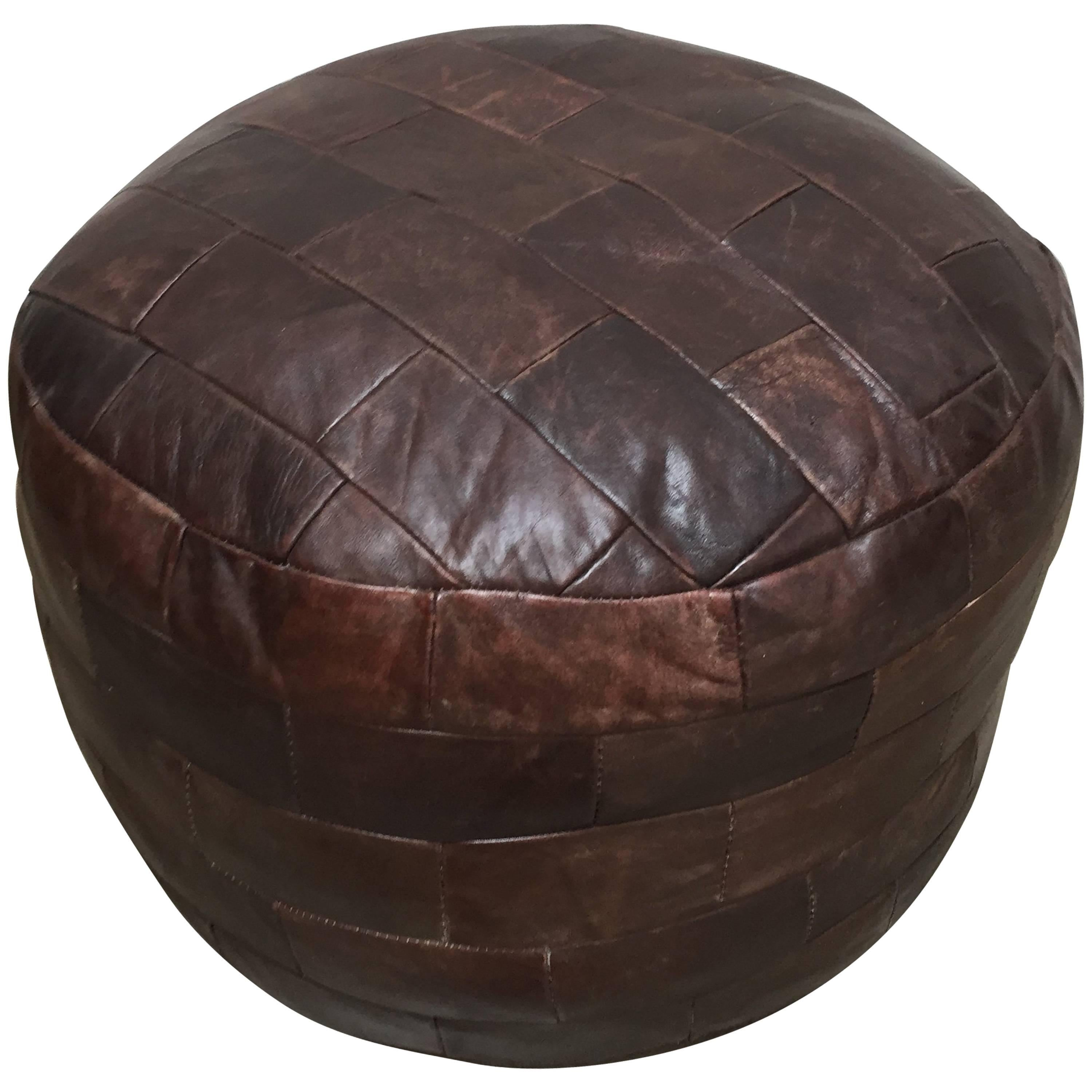 De Sede Brown Leather Ottoman