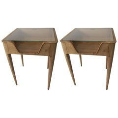 Pair of Side Tables circa 1937 Attributed to Gio Ponti, Italian, Milan
