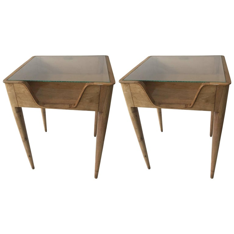 Pair of Side Tables circa 1937 Attributed to Gio Ponti, Italian, Milan