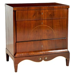 Small Danish Empire Chest of Drawers in Mahogany, circa 1810