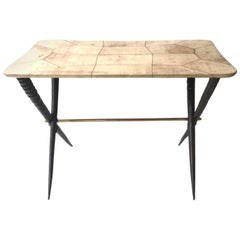 Small Coffee Table in Parchment, 1950s Italian by Aldo Tura