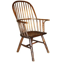 18th Century Ash and Elm High Backed Windsor Armchair