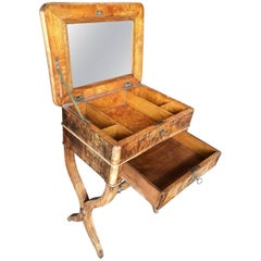 Rare French Travailleuse Dressing Briar Table