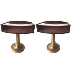 """Vintage 1970s Pair of Side Tables Labelled """"Ronchetti & Porro"""""""