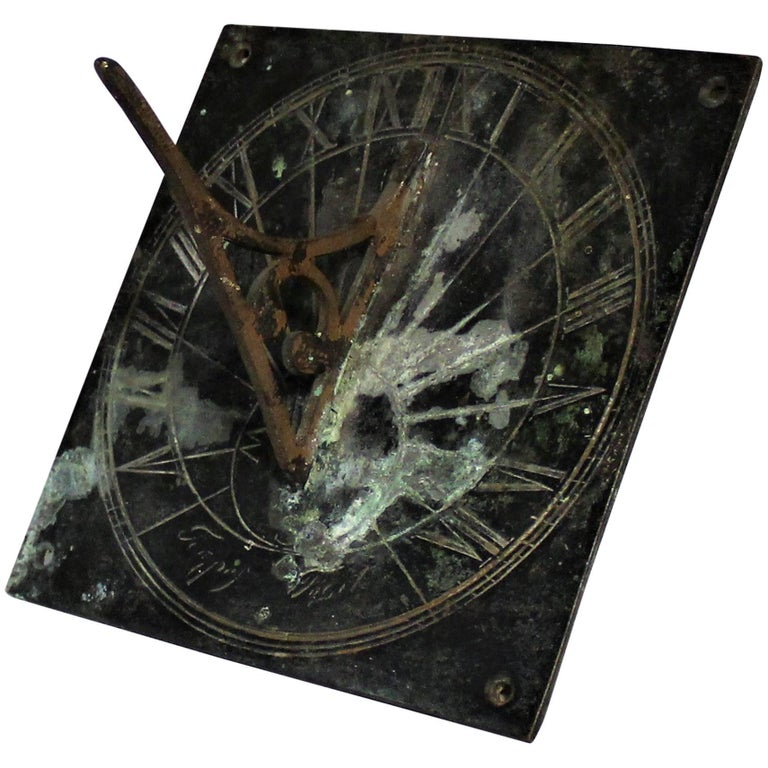 19th Century Bronze Sundial