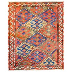 Exceptional Early 20th Century Kurdish Sumak Bag Face Rug