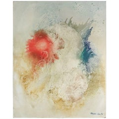 Abstract Painting, Signed, 20th Century