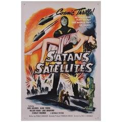 """Satan's Satellites"" an American Mid-Century Sci-Fi Movie Poster, 1958"