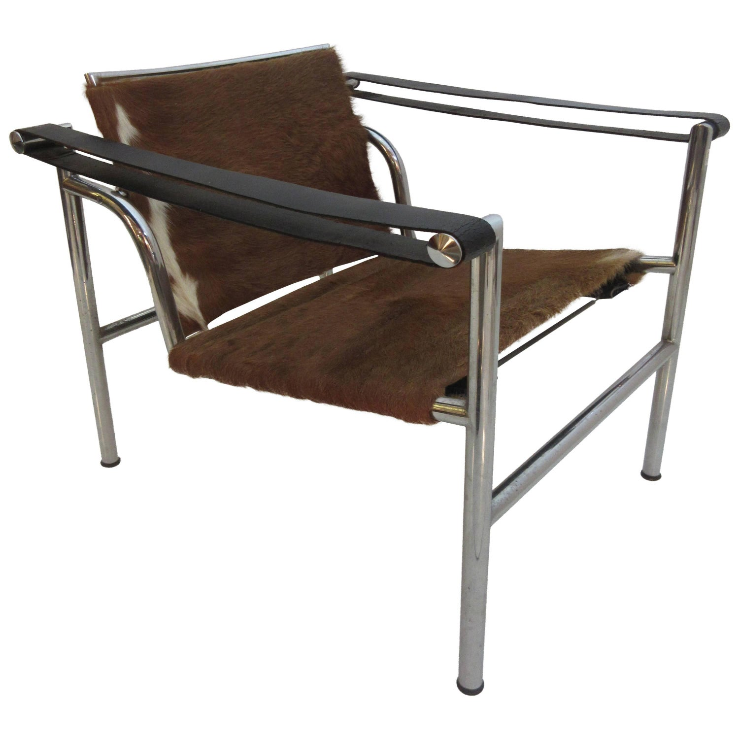 Pair of LC3 Le Corbusier Black Poltrona Lounge Chairs at 1stdibs
