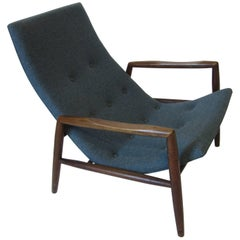 Adrian Pearsall Lounge Chair in the Manner of Danish Modern