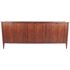 Large Vintage Modern Walnut Sideboard