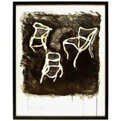 Marcia Grostein Chairs Screen Print, circa 1980s