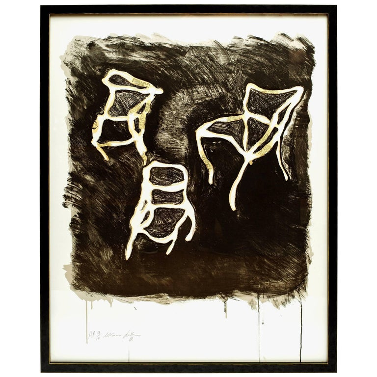 Chairs Screen Print by Marcia Grostein