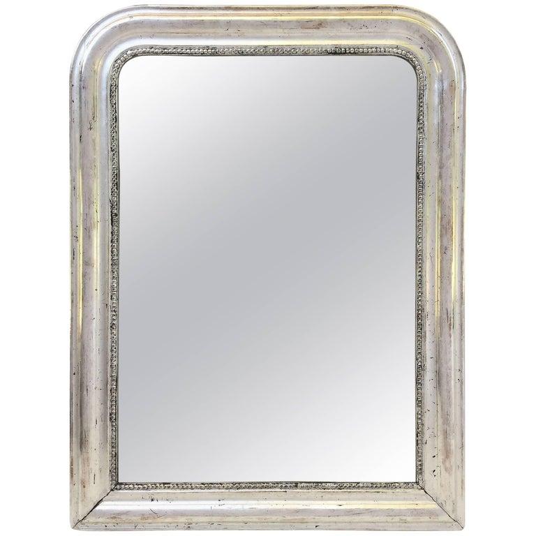 Louis Philippe Silver Gilt Mirror (H 29 3/4 x W 22 1/2)