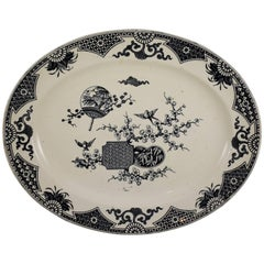 19th Century Staffordshire Aesthetic Movement Transferware Platter, 'Formosa'