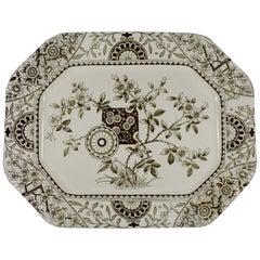 19th Century Staffordshire Aesthetic Movement Transferware Platter, 'Gordon'