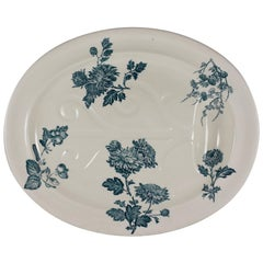 Josiah Wedgwood Aesthetic Staffordshire Well and Tree Platter, 'Chrysanthemum'
