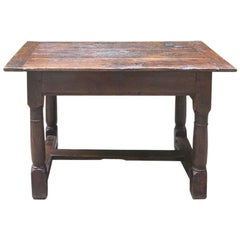 Rare Grand Antique French Chestnut Side Table