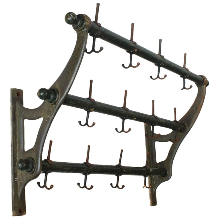 Antique American School Coat And Hat Rack At 1stdibs