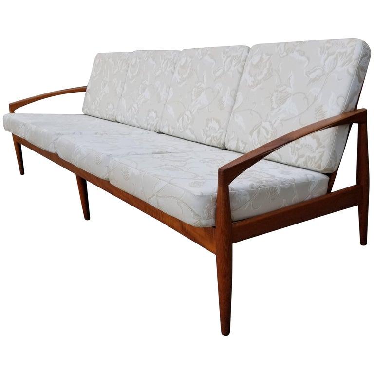 kai kristiansen teak danish four seat sofa for sale at 1stdibs. Black Bedroom Furniture Sets. Home Design Ideas