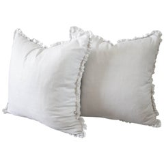 Silk and Linen Accent Pillows