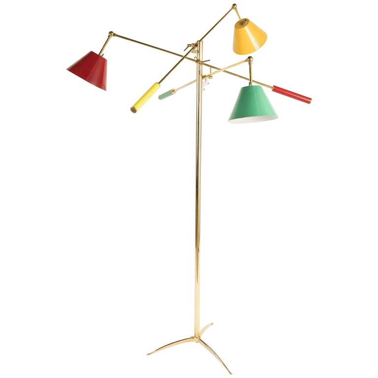 Triennale Floor Lamp in the style of Arredoluce and Angelo Lelli