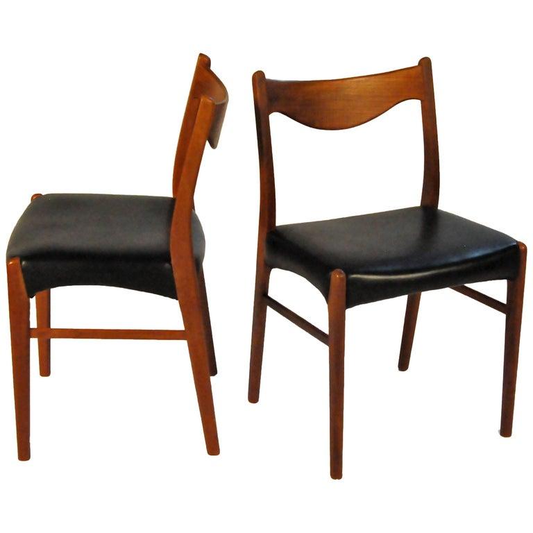 1960s Ejnar Larsen and Axel Bender Madsen Teak Dining Chairs