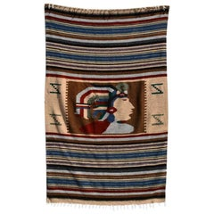 Vintage Indian Blanket, Wall Tapestry Decoration
