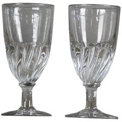 Original Late 19th Century Swirl Absinthe Glasses