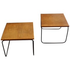 Pierre Guariche Beautiful Pair of Side Tables, circa 1950