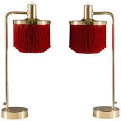 Pair of Fringe Table Lamps B140 by Hans-Agne Jakobsson