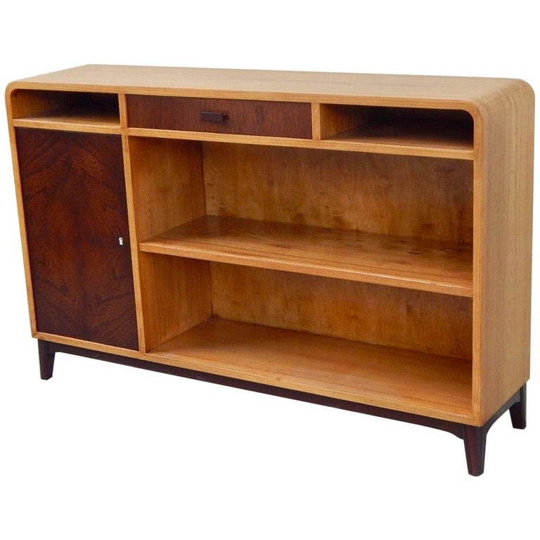 Moderne Sideboard moderne bookcase or sideboard in elm circa 1940 at 1stdibs