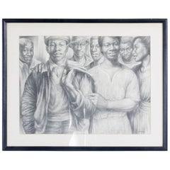 Charles White Lithograph 'Let's Walk Together'