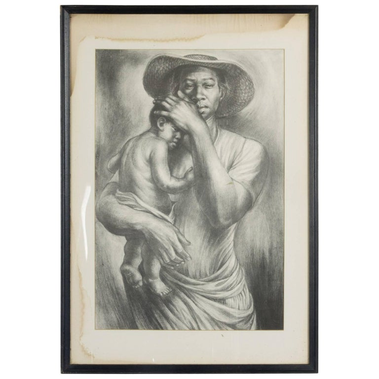 Charles White Lithograph 'The Mother'