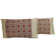 Pair of Vintage Japanese Silk Obi Decorative Pillows