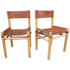 Pair of Campaign Side Chairs