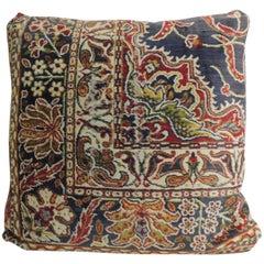 Vintage Large Cotton Velvet Floral Turkish Floor Pillow